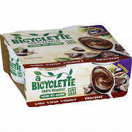 A Bicyclette dessert végétal au chocolat 4x100g