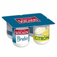Soignon yaourt brassé au lait entier de brebis citron 4x110g