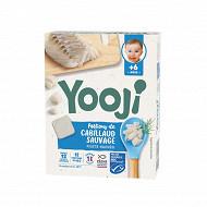 Yooji haché de cabillaud bio MSC dès 6 mois 120g (12 galets de 10g)