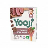 Yooji haché de boeuf bio VBF cuit et surgelé dès 6 mois 120g (12 galets de 10g)