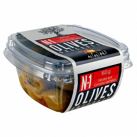 Ail ail ail  n°1 olives vertes farcies aux tomates séchées 160g
