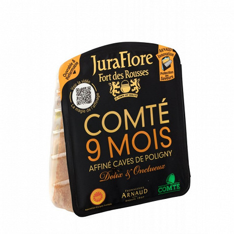 Juraflore comté 9 mois affiné caves de poligny AOP 35%mg 200 g
