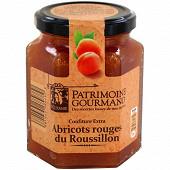 Patrimoine gourmand confiture extra abricots rouges du Roussillon 325g