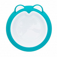 Assiette anti dérapante - bleu acier Badabulle