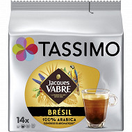 Tassimo jacques vabre brésil x14 96g