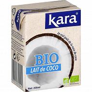 Kara lait de coco bio (brique) 200ml
