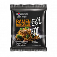 Korean food style nouilles ramen sachet soja caramel 170g