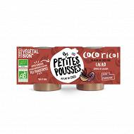 Les Petites Pousses brassé coco bio cacao 2x90g