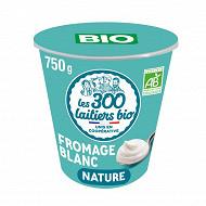 Les 300 & bio notre fromage blanc bio nature pot 750g