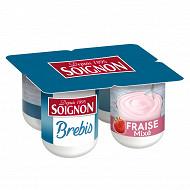Soignon yaourt mixé au lait de brebis fraise 4x110g