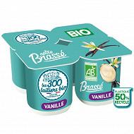 Les 300 & Bio yaourt brassé bio vanille 4x125g