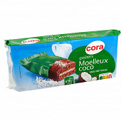 Cora goûters moelleux coco 420g