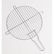 Verciel grille simple ronde diam 41,5 cm acier chromé manche métal réf 450400PR
