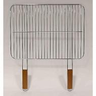 Verciel grille simple acier chromé 2 manches bois 51x38cm réf 475539 PR FSC