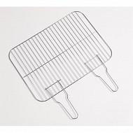 Verciel grille simple 2 manches acier chromé 51x37cm réf 405539PR