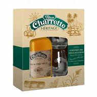 Coffret rhum Charrette héritage très vieux 70cl 40%vol + 2 verres