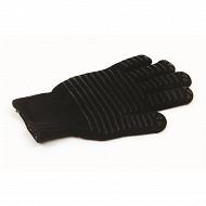 Tom gants de protection 100% coton enduction silicone coloris noir