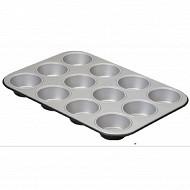 Plaque 12 muffins silver élégance