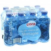 Cora eau de source de montagne Roche des Ecrins 12 x 33cl