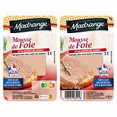 Madrange mousse de foie et sa pointe de crème 2x50g