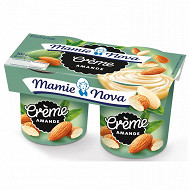 Mamie Nova dessert lacté crème à l'amande 2x150g