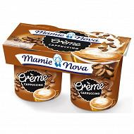 Mamie Nova gourmand crème café cappuccino 2x150g