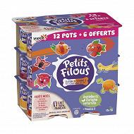 Petits filous fruits panachés 12x50g +6 offerts