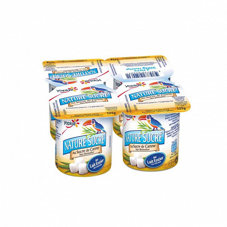 Yoplait yaourt ferme nature sucré 4x125g