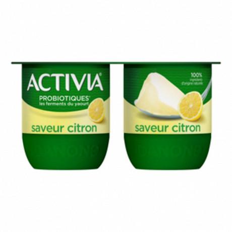 Activia bifidus saveur citron sans arôme artificiel 4x125g