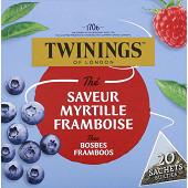 Twinings the saveur myrtille framboise x20 30g