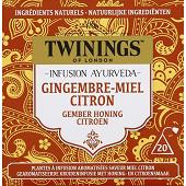 Twinings infusion ayurdveda gingembre citron miel x20 32g
