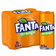 Fanta orange boite 6x33cl