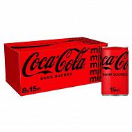 Coca-Cola zéro boîte mini frigo pack 8x15cl