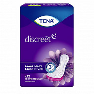 Tena lady serviettes incontinence maxi night x12