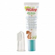Gel nettoyant gencives et dent + doigt massant - 15g 4m+ Nuby