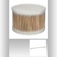 Boîte de 500 cotons-tiges en bambou