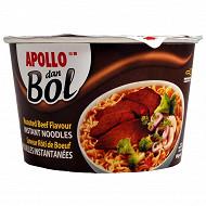 Apollo nouilles dan bol saveur boeuf rôti 85g