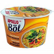 Apollo nouilles dan bol curry 85g