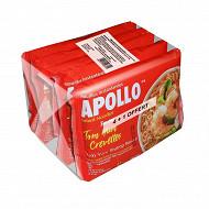 Apollo nouille fruit de mer citronnelle 425g 4+1