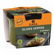 Gaea tapenade olives vertes 100g