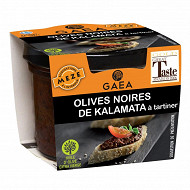 Gaea olives noires de kalamata à tartiner 100g