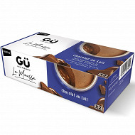 Gü Mousse & ganache Chocolat lait 2x70g