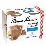 Bonne Maman mousse au chocolat au lait et aux oeufs frais 4x50g