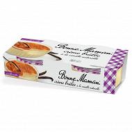 Bonne Maman crème brûlée à la vanille naturelle 2x100g