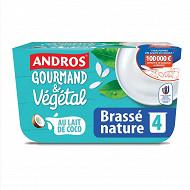 Andros brassé végétal nature 4x100g