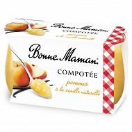 Bonne Maman compotée pomme vanille 2x130g