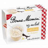 Bonne Maman riz au lait à la vanille naturelle 4x100g