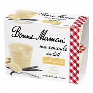 Bonne Maman semoule au lait à la vanille naturelle 4x100g