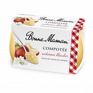 Bonne Maman compotée nectarine blanche jasmin 2x130g