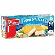 Findus 10 tranches panées colin d'Alaska 510g